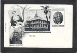 CPA Tahiti Océanie Polynésie Française Non Circulé Types Roi Reine - Tahiti