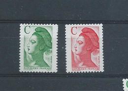 """OA 9097 / FRANCE 1990 Yvert 2615 à 2616 / ** Marianne Du Bicentenaire Avec Lettre """" C """" - France"""