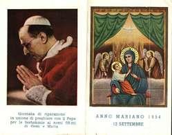 Image Pieuse  Ou Religieuse -    ANNO MARIANO 1954 - DEL SANTO PADRE PIO XII - Images Religieuses