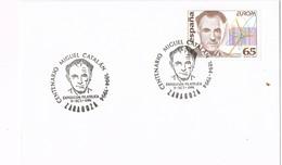 32302. Carta ZARAGOZA 1994. Centenario Miguel Catalán, Atomo, Manganeso - 1931-Hoy: 2ª República - ... Juan Carlos I