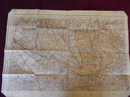 CARTE IGN AUDE De Castelnaudary A Pennautier . 1942 - Cartes Routières