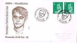 32304. Carta Exposicion GRANADA 1981. Garcia Lorca, Literatura, Poeta - 1931-Hoy: 2ª República - ... Juan Carlos I