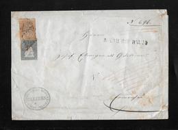1854-1862 Helvetia (Ungezähnt) Strubel →  Briefumschlag Gemeindekanzlei Römerschwyl  ►SBK-23B & 25B Balkenstempel◄ - 1854-1862 Helvetia (Ungezähnt)