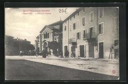 CPA Lamastre, La Place Du Temple - Lamastre