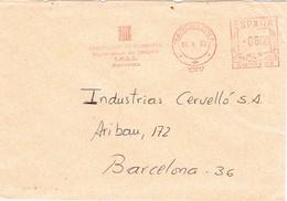 32308. Carta BARCELONA 1982. Franqueo Mecanico Generalitat Catalunya. Treball - 1931-Hoy: 2ª República - ... Juan Carlos I