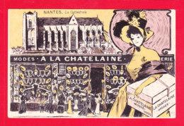 "F-44-Nantes-211Ph86  Pub Modes ""A La Chatelaine"", La Cathédrale, Cpa BE - Nantes"