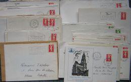 France Lot Vrac Marianne De Briat 100 Plis, 50 Grs TP Lavé, Plus Des Fragments Pour étude - - Postzegels