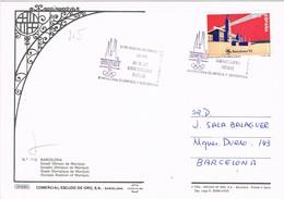 32309. Postal BARCELONA 1992. OLYMPHILEX 92, Barcelona Olimpica. Estadio Montjuich - 1931-Hoy: 2ª República - ... Juan Carlos I