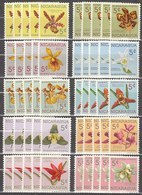 5x Nicaragua 1962, Orchids (MNH, **) - Timbres