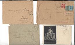 TRESOR ET POSTES  Env. 80 Cachets Sur Enveloppes Et Cp - Marcophilie (Lettres)
