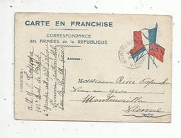 Carte En Franchise ,correspondance Des Armées De La République , MONTMORILLON, VIENNE ,1916 - Cartes De Franchise Militaire