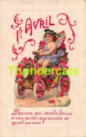 CPA 1 AVRIL ANGE ANGELOT CUPIDO DECOUPAGE DECOUPI AJOUTI CUT OUT CHROMO ANGEL APRIL FOOL CARD - Anges