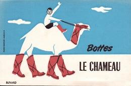 Ancien BUVARD Illustré  BOTTES Le Chameau - Shoes