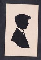 Portrait Silhouette Découpée Par Clausen Silhouettiste Copenhague ( Homme Casquette Cravate ) - Arts