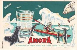 Ancien BUVARD Illustré  AMORA - Moutardes