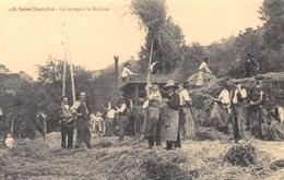 Saint-Just-en-Chevalet - Scène Champêtre - Le Battage à La Machine - Batteuse - Cecodi N'879 - Autres Communes