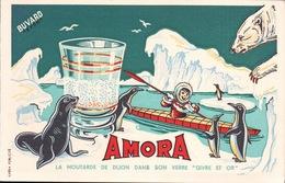 Ancien BUVARD Illustré  AMORA - Mostard