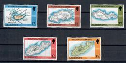 ALDERNEY 1989 - CARTE GEOGRAFICHE DELL'ISOLA - MNH ** - Alderney