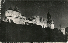 Vianden (Luxembourg) Le Chateau Illuminé, Castello Notturno, The Castle By Night - Vianden