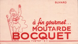 Ancien BUVARD Illustré  Moutarde BOCQUET - Mostaza