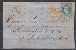 Rare- Devant De Lettre N29 + N36 Coupé En Diagonale GC2624 Nesle 30/09/71. Signé P Scheller - 1870 Siege Of Paris