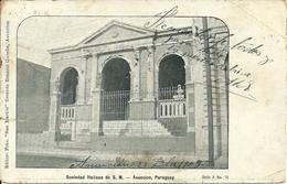 """Asuncion (Paraguay) Sociedad Italiana De S. M., Stamps (Soprastampati) Overprinted """"1908"""" - Paraguay"""