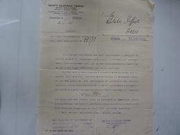 "Lettera Commerciale ""SOCIETA' TELEFONICA TIRRENA Roma"" 1938 - Italy"