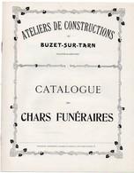 RARE Catalogue De Chars Funéraires(années 1900/1910) - Historical Documents