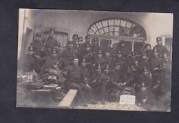 Carte Photo Suisse FR Guerre 14-18 Bulle Souvenir De Mobilisation 1914 ( Militaires Armée Suisse ) - FR Fribourg