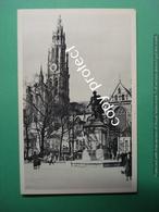 Anvers Antwerpen Cathedrale Notre-Dame Et Statue De Rubens - Antwerpen