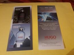 1Hugo  Boss Carte Glacee Marqud Page En Italien R/V - Cartes Parfumées