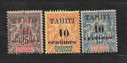 TAHITI - N° 31.32.33 NEUF *  - COTE = 35.00 € - Ongebruikt