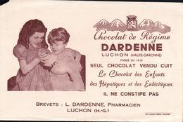 Ancien BUVARD Illustré  Chocolat DARDENNE - Cocoa & Chocolat