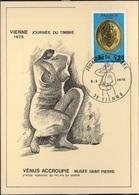 FDC 420 - FRANCE N° 1838 Journée Du Timbre Vienne Sur Carte Maximum 1975 - 1970-79