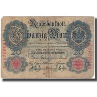 Billet, Allemagne, 20 Mark, 1910, 1910-04-21, KM:46b, TTB - [ 2] 1871-1918 : Empire Allemand