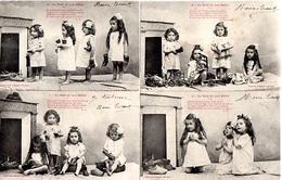BELLE SERIE COMPLETE NOEL DES BEBES - SOULIERS POUPEE PRIERES CHEVAL A ROULETTE JOUETS CHEMINEE - BERGERET NANCY - - Bébés