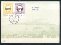 Portugal Azores 1980 Maximum Card: Azores Islans: Terceira, Pico; Boats; - Holidays & Tourism