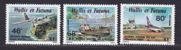 WALLIS ET FUTUNA AERIENS N°   89 à 91 ** MNH Neufs Sans Charnière, TB (D8873) Dessertes Aériennes Et Maritimes - 1979 - Aéreo
