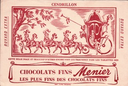 Ancien BUVARD Illustré  Chocolat MENIER . CENDRILLON - Cocoa & Chocolat