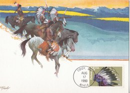Assiniboine - Cheyenne - Comanche - Flathead - Shoshone - Cartas Máxima
