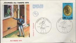 FDC 422 - FRANCE N° 1838 Journée Du Timbre Paris Sur FDC 1975 - FDC