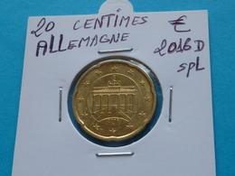 20 CENTIMES EURO ALLEMAGNE 2016 D Spl  ( 2 Photos ) - Allemagne