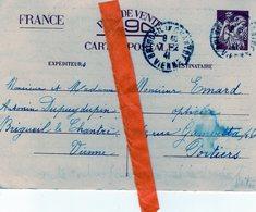 Militaria 39'45; Carte Postale Inter- Zone :Poitiers _ Brigueil Le Chantre (86);1941 :Emard _ Dupuydupin - 1939-45