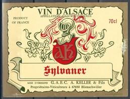 Etiquette De Vin De France * Vin D'Alsace - Sylvaner * - Etiquettes