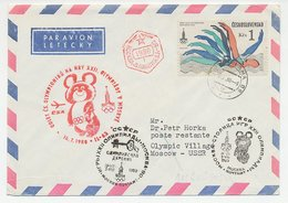 Cover / Postmark Czechoslovakia 1980 Olympic Games Moscow 1980 - Olympische Spiele