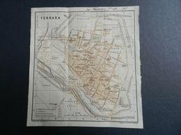 8g) FERRARA PIANTA DELLA CITTA' CARTA GEOGRAFICA 1908 ALLEGATE ALTRE 4 CARTE - Sonstige
