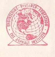 Meter Cover USA 1967 The Asphalt Institute - Globe - Métiers