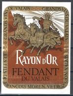 Etiquette De Vin Du Valais  * Fendant - Rayon D'Or  * - Etiquettes