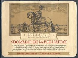 Etiquette De Vin Du Canton De Vaud  * Villette-Domaine De La Bolliattaz * - Etiquettes