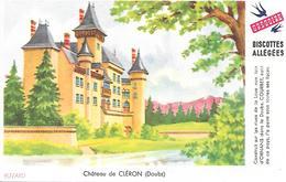 Biscottes GREGOIRE  -  Château De Cléron  ( Format = 15cm X 9,5cm ) - Zwieback